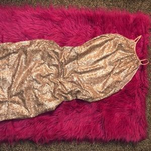 Gold Bridesmaids/Prom dress